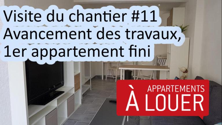 Visite du chantier # 11, Avancement des travaux, 1er appartement fini