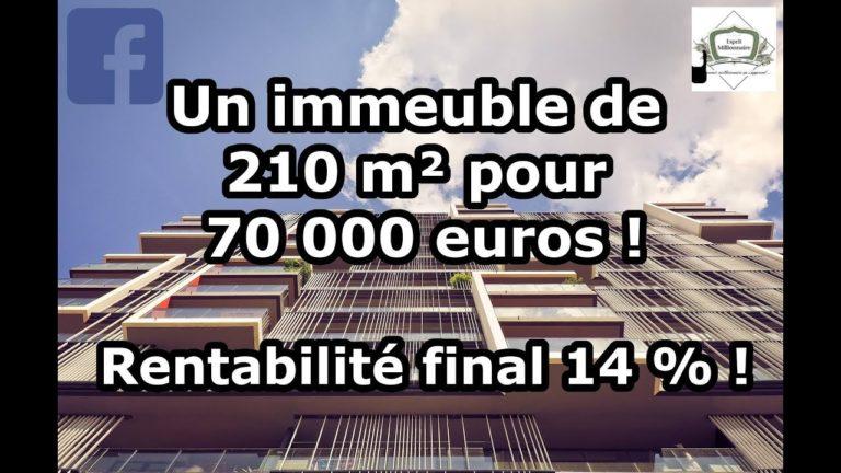 Un immeuble de 4 Lots pour 70 000 € ! 14% de rentabilité !