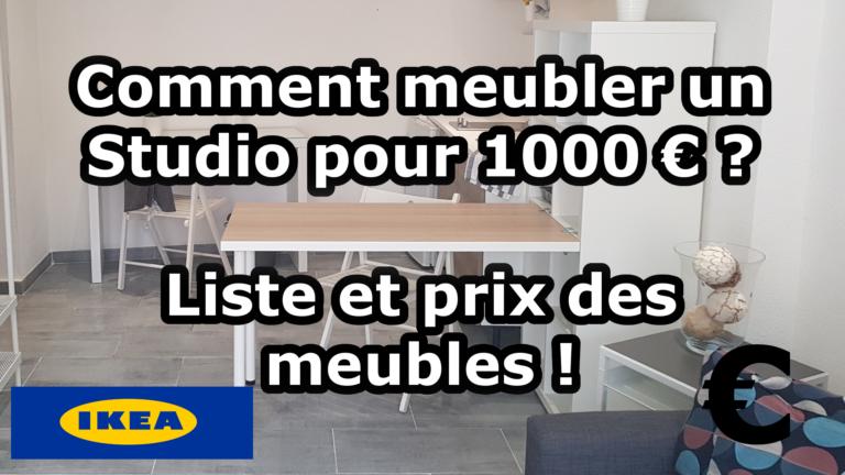 Comment meubler un studio pour 1000€ ? Liste et prix des meubles !