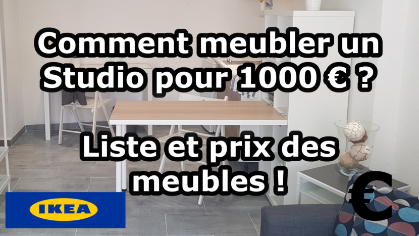 Meubler un studio pour 1000 € - Liste et prix des meubles