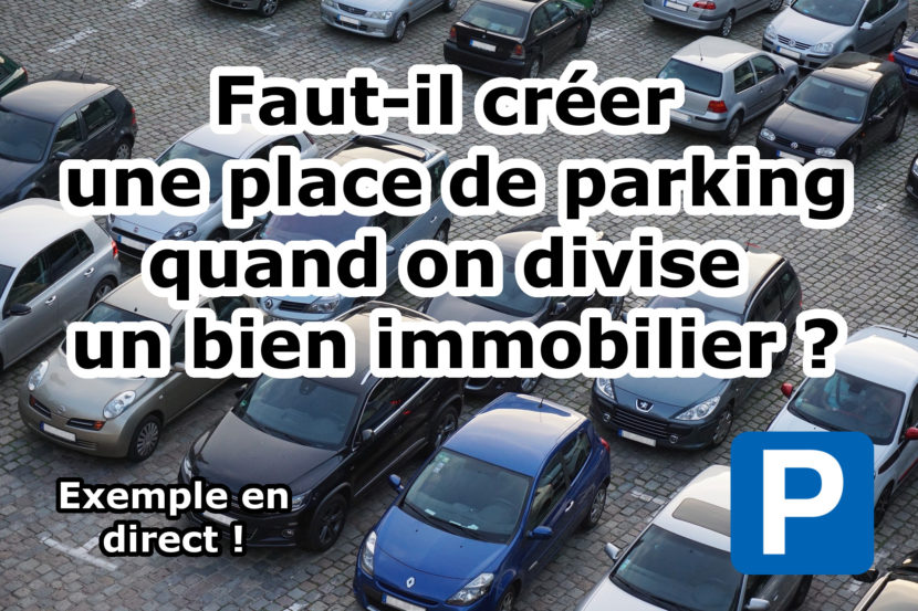 division officiel place de parking
